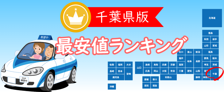 千葉県の合宿免許最安値ランキング